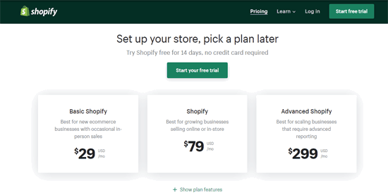 shopify woocommerce pricing