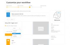 Mailjet customize your workflow