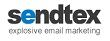 Sendtex logo email marketing software