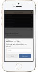 Add new contact - mobile