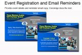 event registration and email reminders
