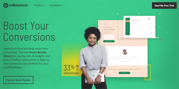 unbounce responsive landing page builder