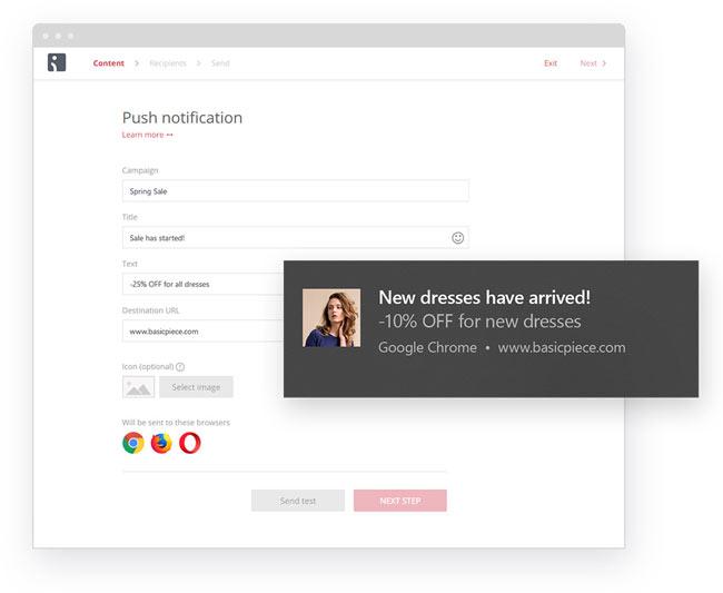 web push notification example
