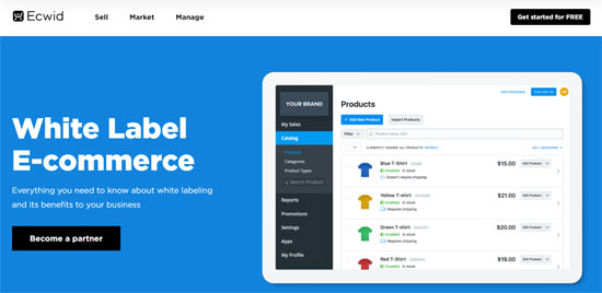 white label ecommerce reseller software